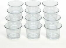 Set of 12 Glass Votive Tea Light Glass Candle Holders Ideal for Parties