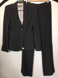 "JIGSAW Size 8 Grey 2 Piece Suit Jacket/Trousers Pit To Pit 17"" Inside Leg 33.5"""