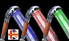 3-Colours Changing LED Shower Head Anion Double Filter High Pressure Spa Relax