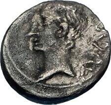 AUGUSTUS 25BC Emerita Spain Quinarius Ancient Silver Roman Coin VICTORY i65611