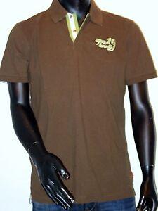 "SIGNUM Polo Shirt kurzarm Größe M  ""sqm19twenty"" braun NEU"