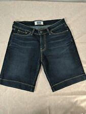 SIGNATURE LEVI STRAUSS & CO. Women's Dark Wash Stretch Jean Shorts size 6
