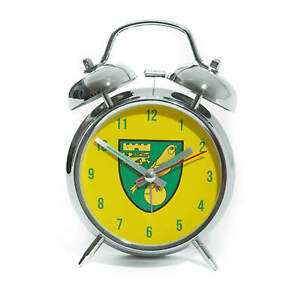 OFFICIAL NORWICH CITY FC BELL ALARM CLOCK