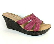 Hush Puppies Women's Cushion Platform Wedge Slide Sandal - Pink Leather - US 9.5