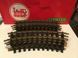 LGB No. 1100 Ten (10) Curved Brass Track 30°  Scale R-600mm with Box