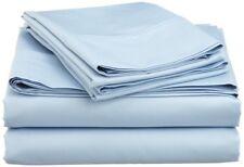 Sheet Set Split California King Size Light Blue Solid 300 Tc 100% Cotton 5 Pcs