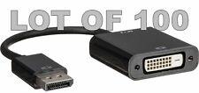 100 X Pcs Display Port DP to DVI Adapter Converter Cable DisplayPort 100x 100pcs