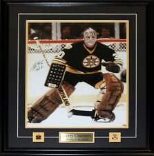 Gerry Cheevers Boston Bruins Signed 16x20 frame