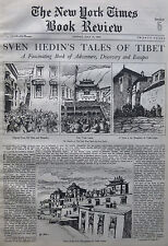 SVEN HEDIN CONQUEST OF TIBET TASHI LAMA FIELD 1934 July 15 NY Times Book Review
