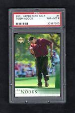 2001 Upper Deck Golf #1 TIGER WOODS ~~~~  NM-MT PSA 8 ~~~ GOAT