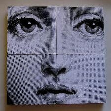 Fornasetti digital Lina Cavaleri face made into four coaster set.