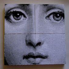 Fornasetti digital Lina Cavaleri face made into four coaster set.