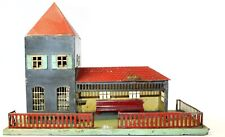 VINTAGE EARLY PRE-WAR DOLL ET CIE MEDIUM HAND PAINTED TRAIN STATION W/LIGHT