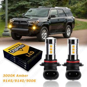 3000K Amber LED Fog Light Bulbs Lamp 9006 For Toyota Tundra Corolla 4Runner