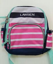 Pottery Barn Kids Fairfax Preschool Mini Pink Striped Backpack Name Lawsen New
