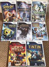 Nintendo Wii Kids Games Bundle x 8 - Tintin, Star Wars, Scooby-Doo!, Spongebob