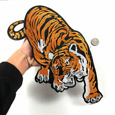 Huge Tiger Patch Full Embroidered Sew Iron on Patch Animal Applique Jacket