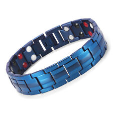 Double Strength 4 Elements Titanium Steel Magnetic Therapy Bracelet Pain Relief