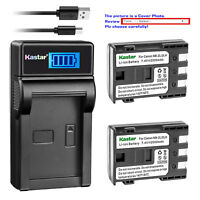 Kastar Battery Charger Canon NB-2L VIXIA HF R10 HF R100 HF R11 HG10 HV20 HV30