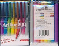 Marker Artline 200 Brights F 0.4mm Wlt8
