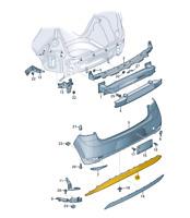 Original VW Golf Hintere Stoßstange Diffusor Links Doppel Auspuffrohr