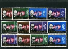 COMMON DESIGN 1966 CIR WINSTON CHURCHILL 3 SETS OF 4 STAMPS MLH