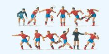 Preiser 10760 Échelle H0 Figurines, Équipe de Football, Rouge Maillots #