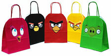 PERSONALISED ANGRY BIRDS Party Gift Bags Birthday Boy Girl Hen Stag