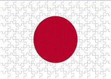 Japan Flag A4 JIGSAW Puzzle Birthday Christmas Gift (Can Be Personalised)