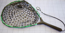 Aluminium-épuisette | gumminetz | env. 60 x 28 x 25 cm | cadre vert | Filet Noir