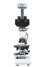 Trinocular Polarizing Geology Ore Reflected Light Microscope w 9 Mp USB Camera