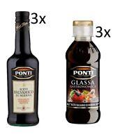 Testpaket Ponti Glassa Glasuren - Ponti Aceto Balsamico Essig 6 Stück