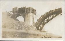 Building the Bridge Clarks Summit PA RPPC real photo postcard used Aug 1914