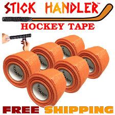 PREM Ice, Field Hockey Lacrosse Goalie Stick No Residue GRIP TAPE Orange 6 Pak