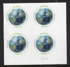 US 2013 NH 4470 GLOBAL FOREVER Bottom Plate Block of 4 CONTINENTS -Free USA Ship