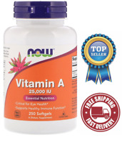 NOW Foods, Vitamin A from Fish Liver Oil, 25000IU, 250 Soft gels