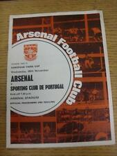 26/11/1969 Arsenal v Sporting Lisbon [Inter Cities Fairs Cup] . Item in very goo