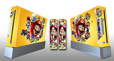 Skin Sticker Cover For NintendoWii Console and 2 Remotes Super Mario 218