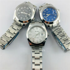 40mm Bliger Automatic Mens Watches Sapphire crystal Sliver Stainless steel Watch