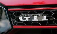 GTI emblème Calandre Argent chrome Volkswagen VW Polo Golf 4 Golf 5 Golf 6