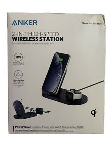 Anker PowerWave 2 In 1 High-Speed Wireless Charging Station Brand New