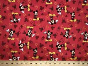 Curtain Valance Handmade From Mickey Mouse Red Cotton Fabric