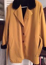 Unique Coat from Spain; Designer Pllar Rueda; Fake Fur; Military Theme; Size 40