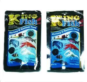 X2 King Fish Aquarium Tropical Dwarf Shrimp Crayfishes Bottom Fishes Flake Food