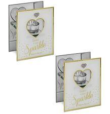 Leave A Little Sparkle Tea Light Candle Holder Home Decoration Table Centrepiece
