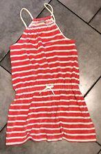Next Girls Velour Towelling Tunic Dress 11-12 Years (146cm/11y Beachwear/Striped