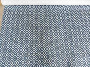 John Lewis Nazca Tablecloth fabric, Indian Blue 2.4m remnant