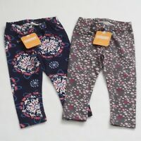 Gymboree Baby Girl Blue and Gray Leggings Set of 2 Pairs Size 18-24 Mos NWT