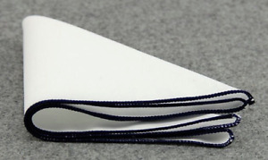 Pocket Square Navy Edged Cotton Handkerchief