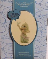 Nib Precious Moments Blessings Of Peace To You Porcelain Bisque Ornament 810002